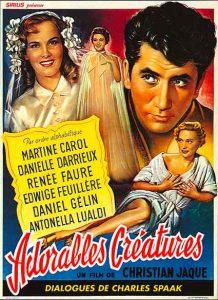 """Affiche du film français """"Adorables créatures"""" de Christian-Jaque (1952)"""