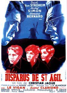 """Affiche du film français """"Les disparus de Saint-Agil"""" de Christian-Jaque (1964)"""