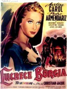 """Affiche du film français """"Lucrèce Borgia"""" de Christian-Jaque (1953)"""
