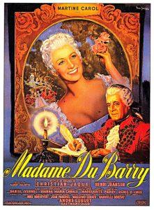 """Affiche du film français """"Madame du Barry"""" de Christian-Jaque (1954)"""
