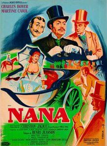 "Affiche du film français ""Nana"" de Christian-Jaque (1954)"
