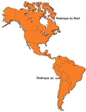 Les Amériques : du Nord et du Sud