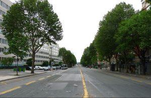 """Le boulevard Ney, l'un des """"Boulevards des maréchaux"""", à Paris (75)"""