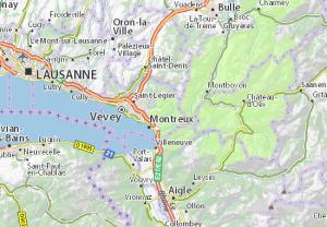 Localisation de la ville de Ollon (Canton de Vaud) (Confédération Helvétique)