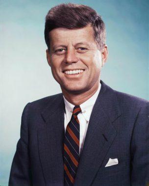 Le président états-unien John Fitzgerald Kennedy