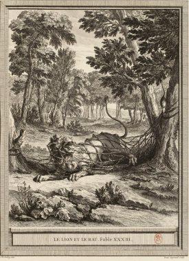 """""""Le lion et le rat"""" de Jean de la Fontaine (Livre II, fable 11. 1668 )"""