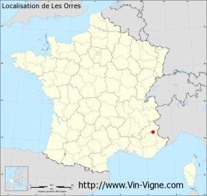 """Localisation de la station """"Les Orres"""" (05)"""