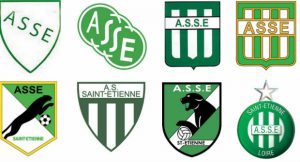 Logos successifs de l'ASSE (Association Sportive de Saint-Étienne)