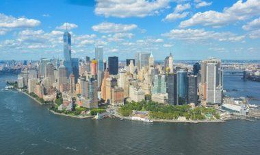 L'île de Manhattan, à New York