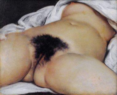 """Le tableau du peintre français Gustave courbet """"L'origine du monde"""" (1866)"""