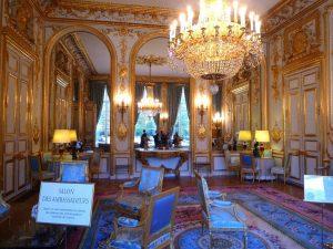 Les ors de la république : le salon des ambassadeurs du palais de l'Élysée