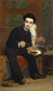 Le peintre français Henri de Toulouse-Lautrec, peint par le peintre Henri Rachou, en 1883
