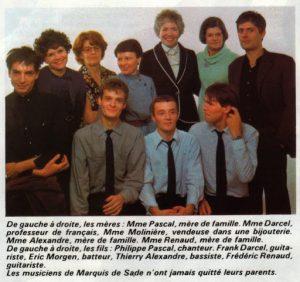 """N°4 du magazine """"Actuel"""" de février 1980, avec un article consacré au groupe de rock rennais """"Marquis de Sade"""""""