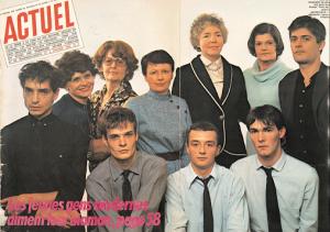 """Couverture-poster du n°4 du magazine """"Actuel"""" de février 1980, consacré au groupe de rock rennais """"Marquis de Sade"""""""