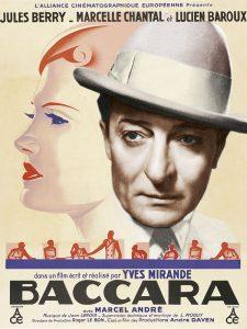 """Affiche du film français """"Baccara"""" de Yves Mirande (1935)"""