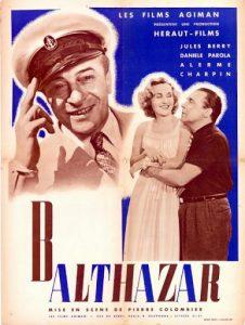 """Affiche du film français """"Balthazar"""" de Pierre Colombier (1937)"""