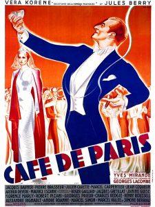 """Affiche du film français """"Café de Paris"""" de Yves Mirande et Georges Lacombe (1938)"""