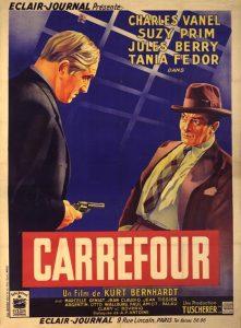 "Affiche du film français ""Carrefour"" de Kurt (ou Curtis)i Bernhardt (1938)"
