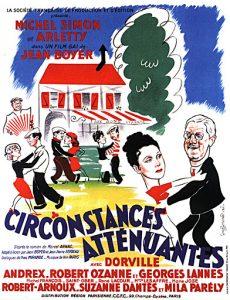 """Affiche du film français """"Circonstances atténuantes"""" de Jean Boyer (1939)"""