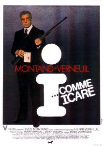 """Affiche du film français """"I comme Icare"""" de Henri verneuil (1979)"""