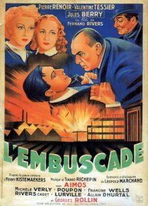 """Affiche du film français """"L'embuscade"""" de Fernand Rivers (1941)"""