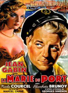 """Affiche du film français """"la Marie du port"""" de Marcel Carné (1949)"""