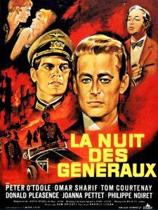"""Affiche du film franco-britannique """"La nuit des généraux"""" d'Anatole Litvak (1967)"""