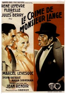 """Affiche du film français """"Le crime de monsieur Llange"""" de Jean Renoir (1935)"""