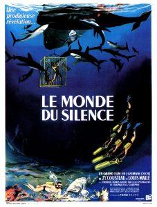 """Affiche du film français """"Le monde du silence"""" de Jacques-Yves Cousteau et Louis Malle (1956)"""