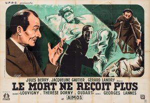 """Affiche du film français """"Le mort ne reçoit plus"""" de Jean Tarride (1943)"""