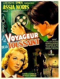 """Affiche du film français """"Le voyageur de la Toussaint"""" de Louis Daquin (1943)"""