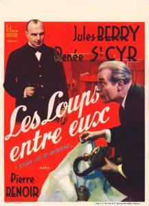 """Affiche du film français """"Les loups entre eux"""" de Léon Mathot (1936)"""