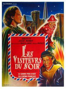 """Affiche du film français """"Les visiteurs du soir"""" de Marcel Carné (1942)"""