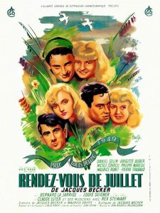 """Affiche du film français """"Rendez-vous de Juillet"""" de Jean Becker (1949)"""
