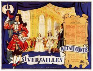 """Affiche du film français """"Si Versailles m'était conté..."""" (1954)"""