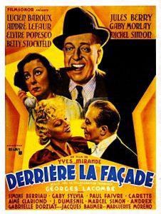 """Affiche du film français """"Derrière la façade"""" de Yves Mirande et (1939)"""