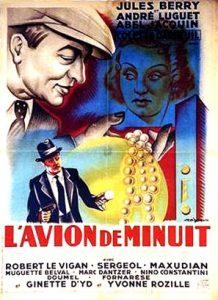 """Affiche du film français """"L'avion de minuit"""" de Dimitri Kirsanoff (1938)"""