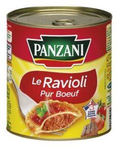 Boîte de ravioli en conserve de marque Panzani