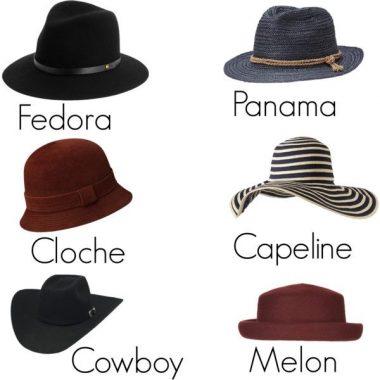Quelques modèles de chapeaux