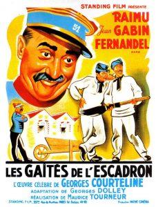 """Affiche du film français """"Les gaîtés de l'escadron"""" de Maurice Tourneur (1932), d'après la pièce de théâtre homonyme de Georges Courteline (1886)"""