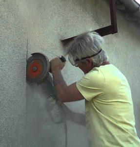 Découper une fenêtre dans un mur extérieur