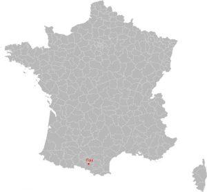 Localisation de la ville de Foix (09)
