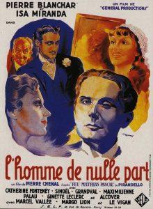 """Affiche du film français """"L'homme de nulle part"""" de Pierre Chenal (1936)"""