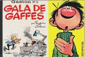 """Deuxième album demi-format de la série de bande dessinée belge """"Gaston Lagaffe"""" (1963)"""