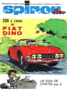Starter en Fiat Dino, en couverture du n°1556 de Spirou du 8 février 1968
