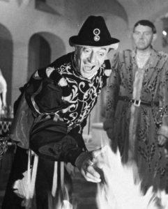 """L'acteur français Jules Berry, extraordinaire dans """"Les visiteurs du soir"""" de Marcel Carné (1942)"""