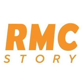 Logotype de la chaîne de télévision française RMC Story du groupe NextRadioTV