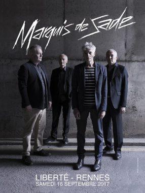 Affiche du concert anniversaire du groupe rennais Marquis de Sade, le 16 septembre 2017, à Rennes (35)
