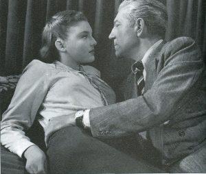 """Nicole Courcel et Jean Gabin dans """"La Marie du port"""", de Marcel Carné (1950)"""