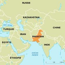 Localisation du Pakistan